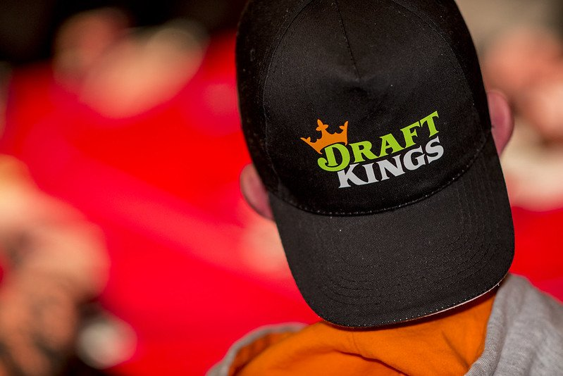 DraftKings Logo on a backwards hat.
