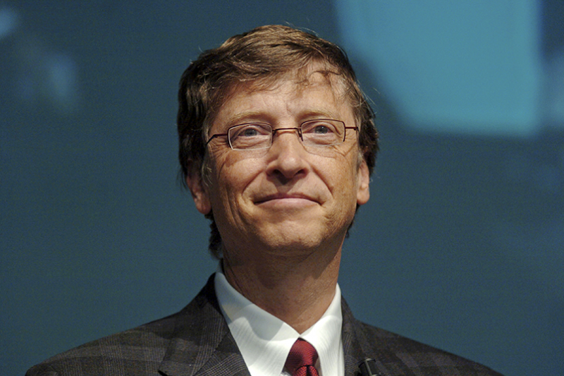 Milan, Italy - November 18, 2004: Microsoft founder Bill Gates during the Futurshow convention. (By Paolo Bona)